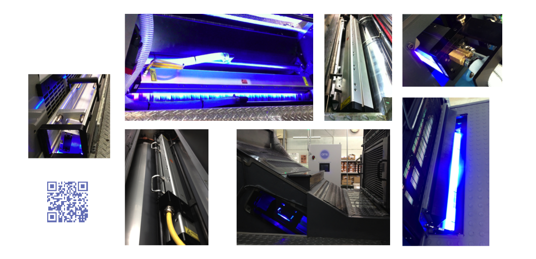 AMS Installation Images of UV LED for Sheetfed Offset Presses